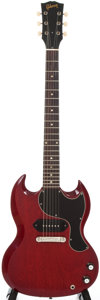Musical Instruments:Electric Guitars, 1965 Gibson SG Junior Cherry Solid Body Electric Guitar,#256188....