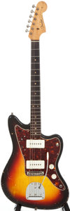Musical Instruments:Electric Guitars, 1964 Fender Jazzmaster Sunburst Solid Body Electric Guitar, Serial# L24751....