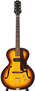 Musical Instruments:Electric Guitars, 1963 Epiphone Century Sunburst Semi-Hollow Body Electric Guitar,Serial # 96681....