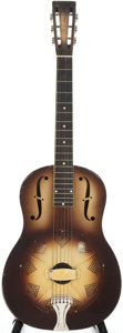 Musical Instruments:Resonator Guitars, 1930's National Duolian Polychrome Resonator Guitar, Serial # 2817W....