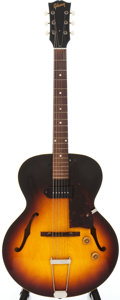 Musical Instruments:Electric Guitars, 1959 Gibson ES 125 T Sunburst Semi-Hollow Body Electric Guitar,Serial # S9777....