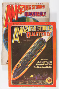 Amazing Stories Quarterly Group (Radio-Science Publications, 1928-30) Condition: Average VG/FN.... (Total: 4 Comic Books...