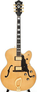 Musical Instruments:Electric Guitars, 1992 Guild X500BLD Natural Semi-Hollow Body Electric Guitar, Serial# JB100425....