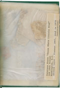 Autographs:U.S. Presidents, [Abraham Lincoln] Wallpaper from the Lincoln's Death Room....