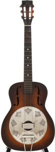 Musical Instruments:Resonator Guitars, 1935 National Triolian Sunburst Resonator Guitar, Serial #T2409....