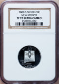 Proof Statehood Quarters, 2008-S 25C N.M. Silver PR70 Ultra Cameo NGC. NGC Census: (0). PCGS Population (330). Numismedia Wsl. Price for problem fre...