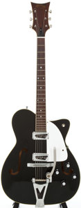 Musical Instruments:Electric Guitars, 1965 Martin GT-70 Black Semi-Hollow Body Electric Guitar, Serial #206331....
