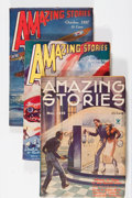 Pulps:Science Fiction, Amazing Stories Group (Ziff-Davis, 1935-49) Condition: AverageVG/FN.... (Total: 4 Comic Books)