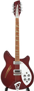 Musical Instruments:Electric Guitars, 1983 Rickenbacker 360/12 Burgundyglo 12 String Semi-Hollow BodyElectric Guitar, Serial # WH1113....