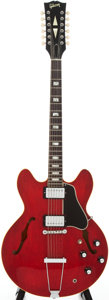 Musical Instruments:Electric Guitars, 1969 Gibson ES-335-12TDC Cherry Semi-Hollow Body Electric Guitar,Serial # 840814....