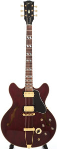 Musical Instruments:Electric Guitars, 1976 Gibson ES-345 Stereo Burgundy Semi-Hollow Body ElectricGuitar, Serial # 00105128....