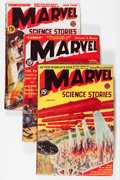 Pulps:Science Fiction, Marvel Science Stories Group (Red Circle, 1938-39) Condition:Average VG+.... (Total: 3 Comic Books)
