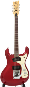 Musical Instruments:Electric Guitars, 1966 Mosrite Ventures Candy Apple Red Solid Body Electric Guitar,Serial # 4209....