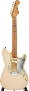 Musical Instruments:Electric Guitars, 1956 Fender Musicmaster Desert Sand Solid Body Electric Guitar,Serial # 11735....