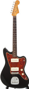 Musical Instruments:Electric Guitars, 1962 Fender Jazzmaster Refinished Black Solid Body Electric Guitar,Serial # 71090....