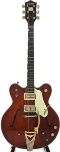 Musical Instruments:Electric Guitars, 1966 Gretsch Country Gentleman Burgundy Semi-Hollow Body ElectricGuitar, Serial # 11629....