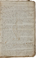 Autographs:Statesmen, [Massachusetts Bay Colony] John Winthrop Fair Copy ofConsiderations for the Plantation [of New England]....