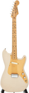 Musical Instruments:Electric Guitars, 1957 Fender Musicmaster Desert Sand Solid Body Electric Guitar,Serial # -21761....