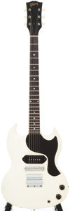 Musical Instruments:Electric Guitars, 1966 Gibson SG Junior Polaris White Solid Body Electric Guitar, Serial # 700023....