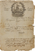 Autographs:Non-American, Napoleon Bonaparte Signed Document....