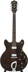 Musical Instruments:Electric Guitars, 1965 Guild Starfire IV Brown Stain Semi-Hollow Body ElectricGuitar, Serial # EL-301....