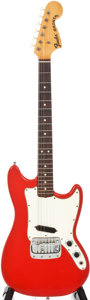 Musical Instruments:Electric Guitars, 1967 Fender Bronco Red Solid Body Electric Guitar, Serial #205416....