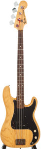 Musical Instruments:Bass Guitars, 1977 Fender Precision Bass Natural Electric Bass Guitar, Serial #S756966....