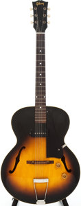 Musical Instruments:Electric Guitars, 1954 Gibson ES-125 Sunburst Semi-Hollow Body Electric Guitar,Serial # X9579....