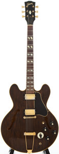 Musical Instruments:Electric Guitars, 1969 Gibson ES-345 Walnut Semi-Hollow Body Electric Guitar,#911001....
