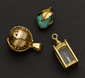 Estate Jewelry:Other , Three Fine Gold Charms. ... (Total: 3 Items)