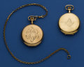 Timepieces:Pocket (post 1900), Two Burlington 21 Jewel Hunter Cases. ... (Total: 2 Items)