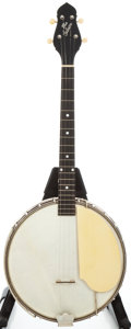 Musical Instruments:Banjos, Mandolins, & Ukes, 1920's Gibson TB-4 Maple Stain Tenor Banjo, Serial # 11161A-41....