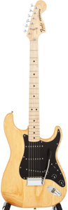 Musical Instruments:Electric Guitars, Circa 1979 Fender Stratocaster Natural Solid Body Electric Guitar,#S919121....