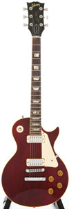 Musical Instruments:Electric Guitars, 1980 Gibson Les Paul Deluxe Cherry Solid Body Electric Guitar,#81350514....