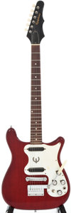 Musical Instruments:Electric Guitars, Circa: 1967 Epiphone Olympic Double Cherry Solid Body ElectricGuitar, #800116....