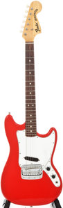 Musical Instruments:Electric Guitars, 1968 Fender Bronco Red Solid Body Electric Guitar, #234394....