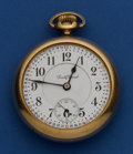 """Timepieces:Pocket (post 1900), South Bend 18 Size """"The Studebaker"""" Grade 329, 21 Jewels. ..."""