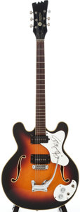 Musical Instruments:Electric Guitars, 1965-69 Mosrite Celebrity Sunburst Semi-Hollow Body ElectricGuitar, Serial # MO112....