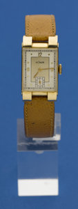 Timepieces:Wristwatch, LeCoultre 14k Gold Deco Wristwatch. ...