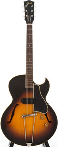 Musical Instruments:Electric Guitars, 1956 Gibson ES-225 Sunburst Semi-Hollow Body Electric Guitar,#V740328....