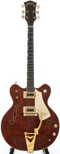 Musical Instruments:Electric Guitars, 1972 Gretsch Country Gentleman Burgundy Semi-Hollow Body Electric Guitar, Serial # 4 2017....