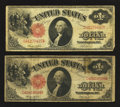 Two Fr. 36 $1 1917 Legal Tenders Very Good-Fine or Better