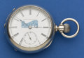 Timepieces:Pocket (post 1900), Elgin Coin Silver 18 Size, Oldsmobile Dial. ...