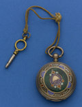 Timepieces:Pocket (pre 1900) , L. Vrard & Co. Shanghai Chinese Market Enamel. ...