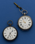 Timepieces:Pocket (pre 1900) , Two Irish Market Silver Key Winds. ... (Total: 2 Items)