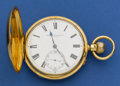 Timepieces:Pocket (pre 1900) , Straub & Hebting London Fine Heavy 18k Gold 51 mm Hunters Case With Free Sprung Lever, circa 1870. ...