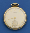 Timepieces:Pocket (post 1900), Concord 14k Gold Watch, Tiffany Signed Dial. ...
