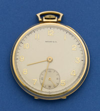 Concord 14k Gold Watch, Tiffany Signed Dial
