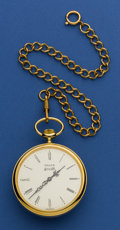 Timepieces:Pocket (post 1900), Gruen New/Old Stock Musical Pocket Watch, with Chain. ...