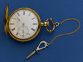 Timepieces:Pocket (pre 1900) , T.B. Odell 18k Gold 44 mm Key Wind With Original Wood Box, circa1873. ...